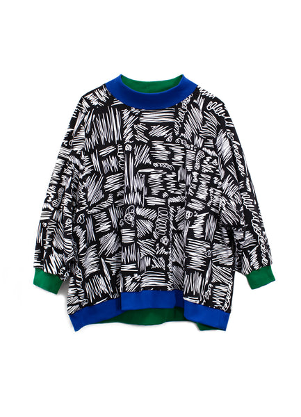 Oversized Scribble Sweatshirt