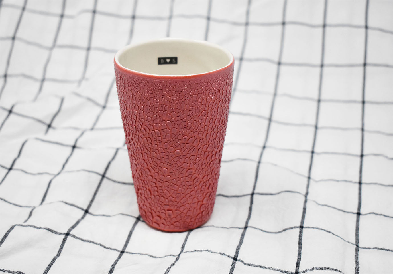 Tumbler Cup - Pink Crawl with Black Tag