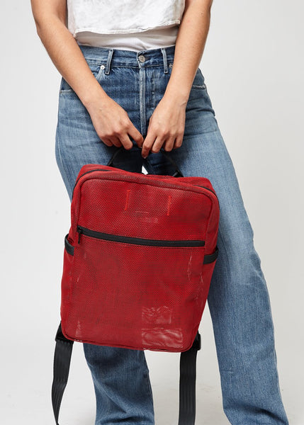 Red Mesh Backpack