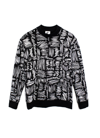 Scribble Print Drop Shoulder Sweatshirt
