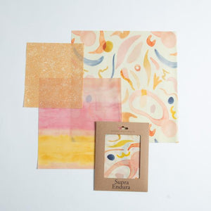 Beeswax Food Wrap In Sunset Print- 3 pack