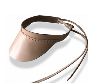 Unisex Visor - Natural Leather