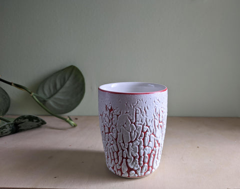 White Crawl Cup - Red 3
