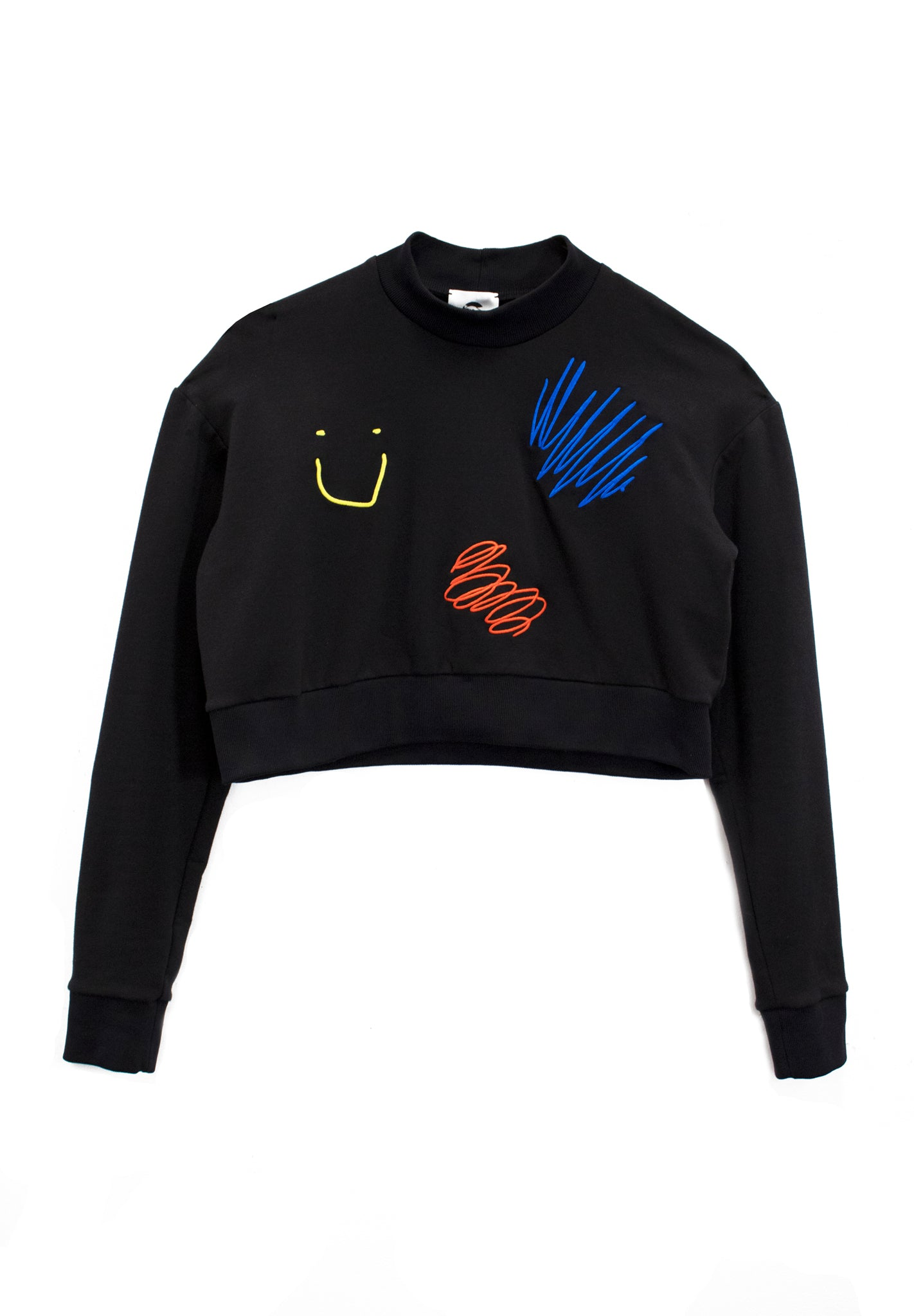 Cropped Everything's Fine Sweatshirt