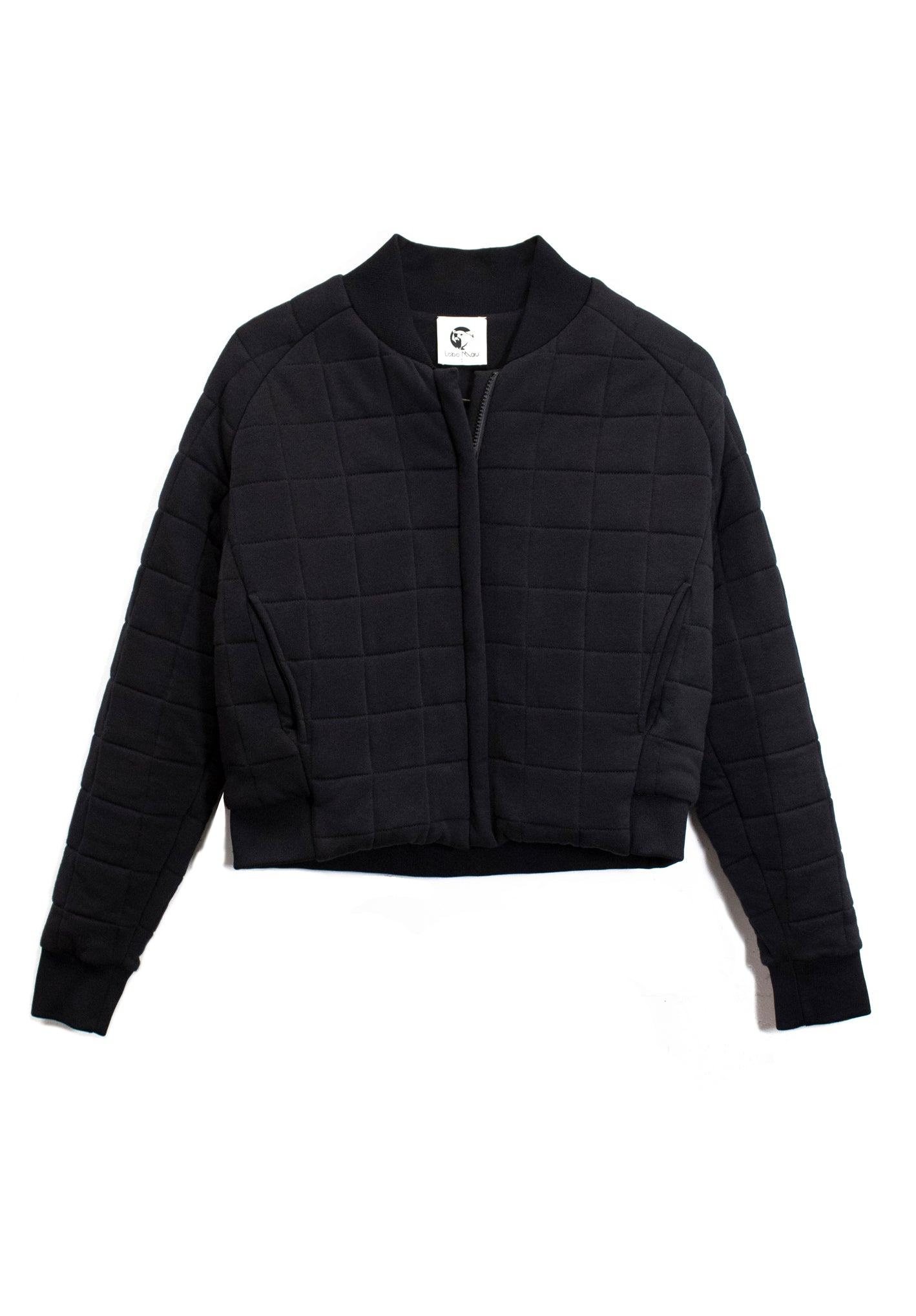Cropped Quilted Bomber