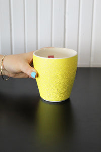 Tumbler Cup - Yellow with Red Tag