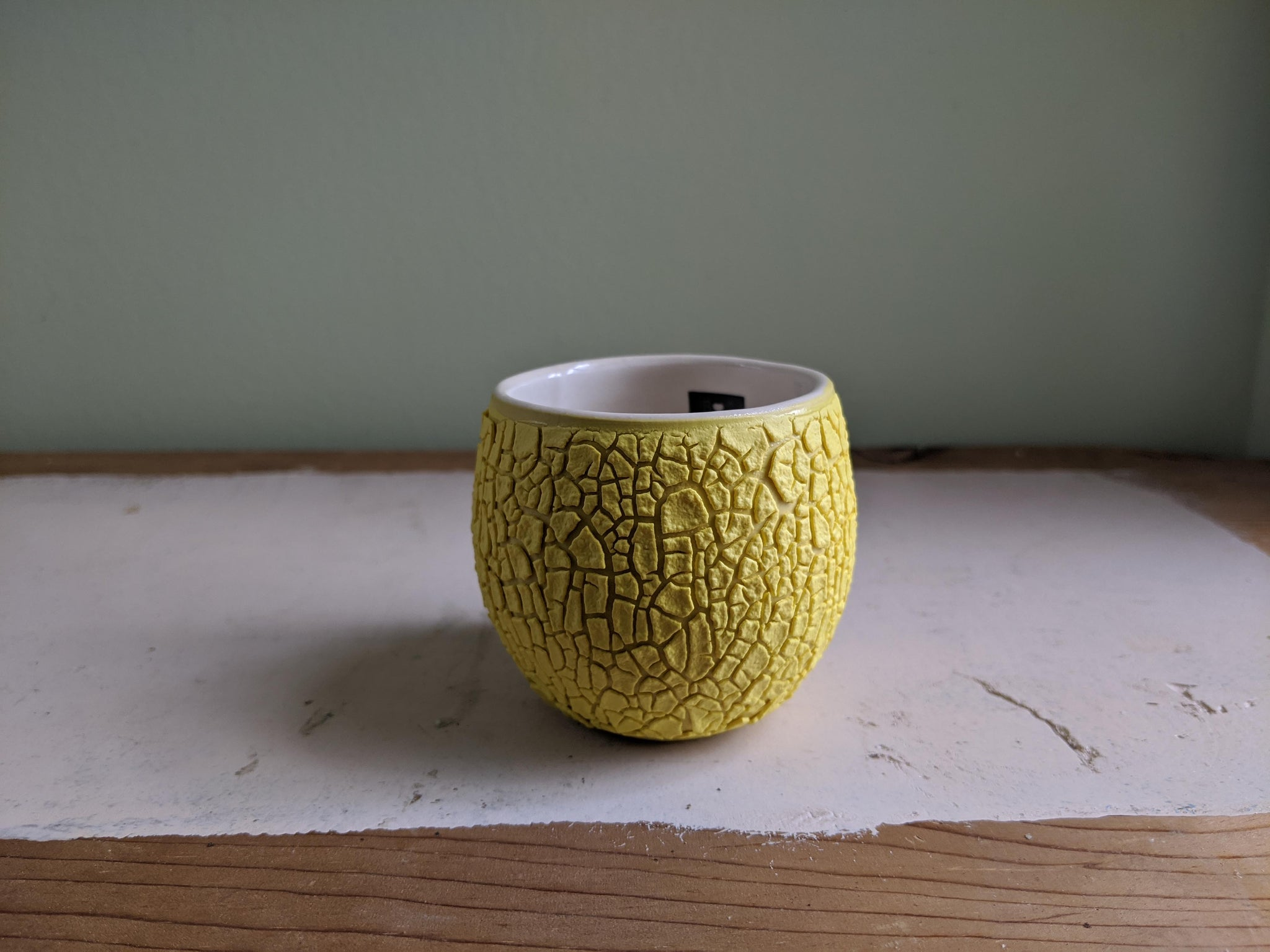 Yellow Crawl Cup - White 2