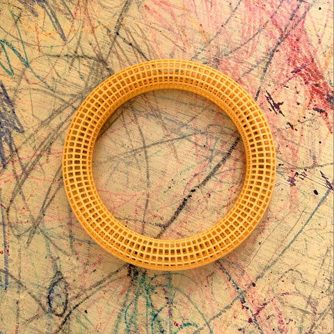 Yellow Grid Bangles