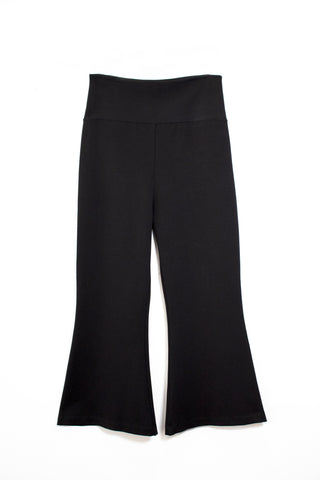 High Waisted Cropped Bell Bottom