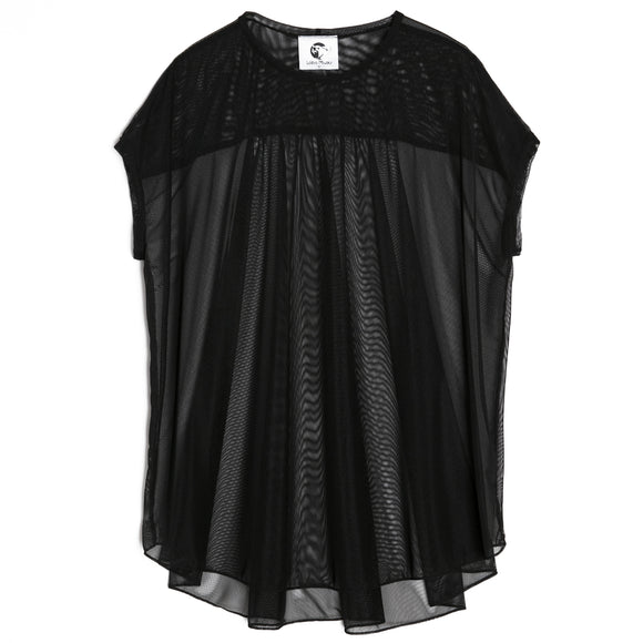 Black Transparent Karl Top
