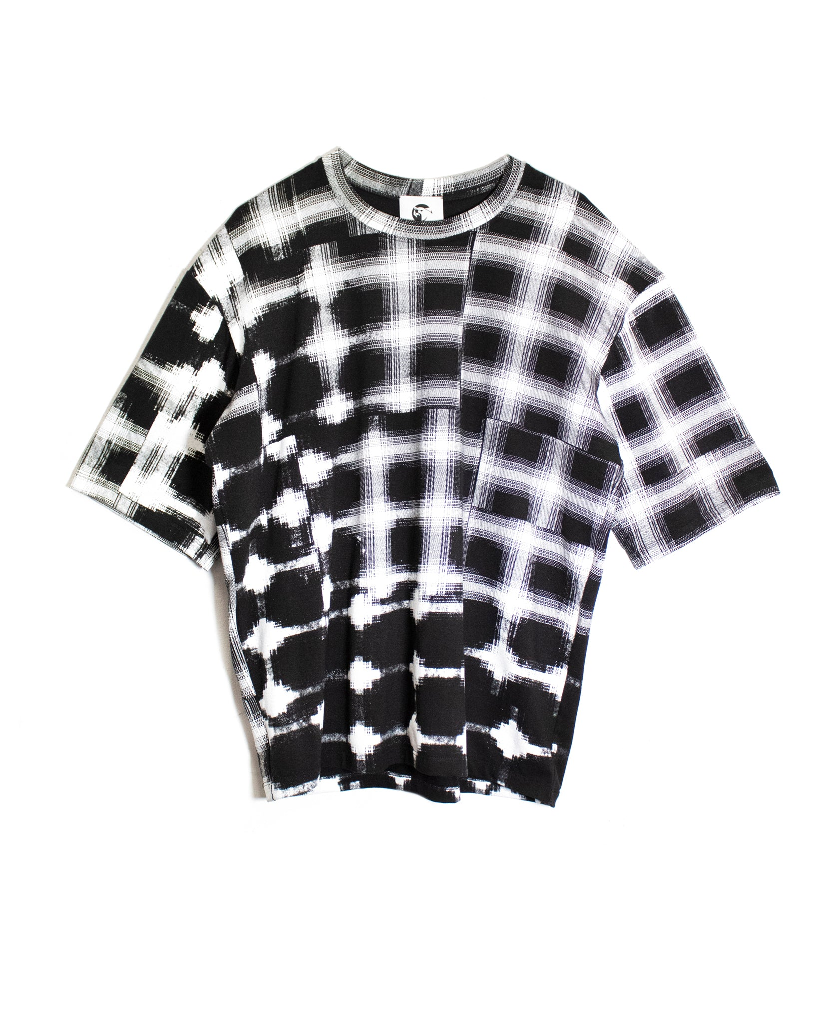 Drop Shoulder Plaid Tee