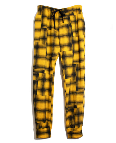 Gold Plaid Sweatpants