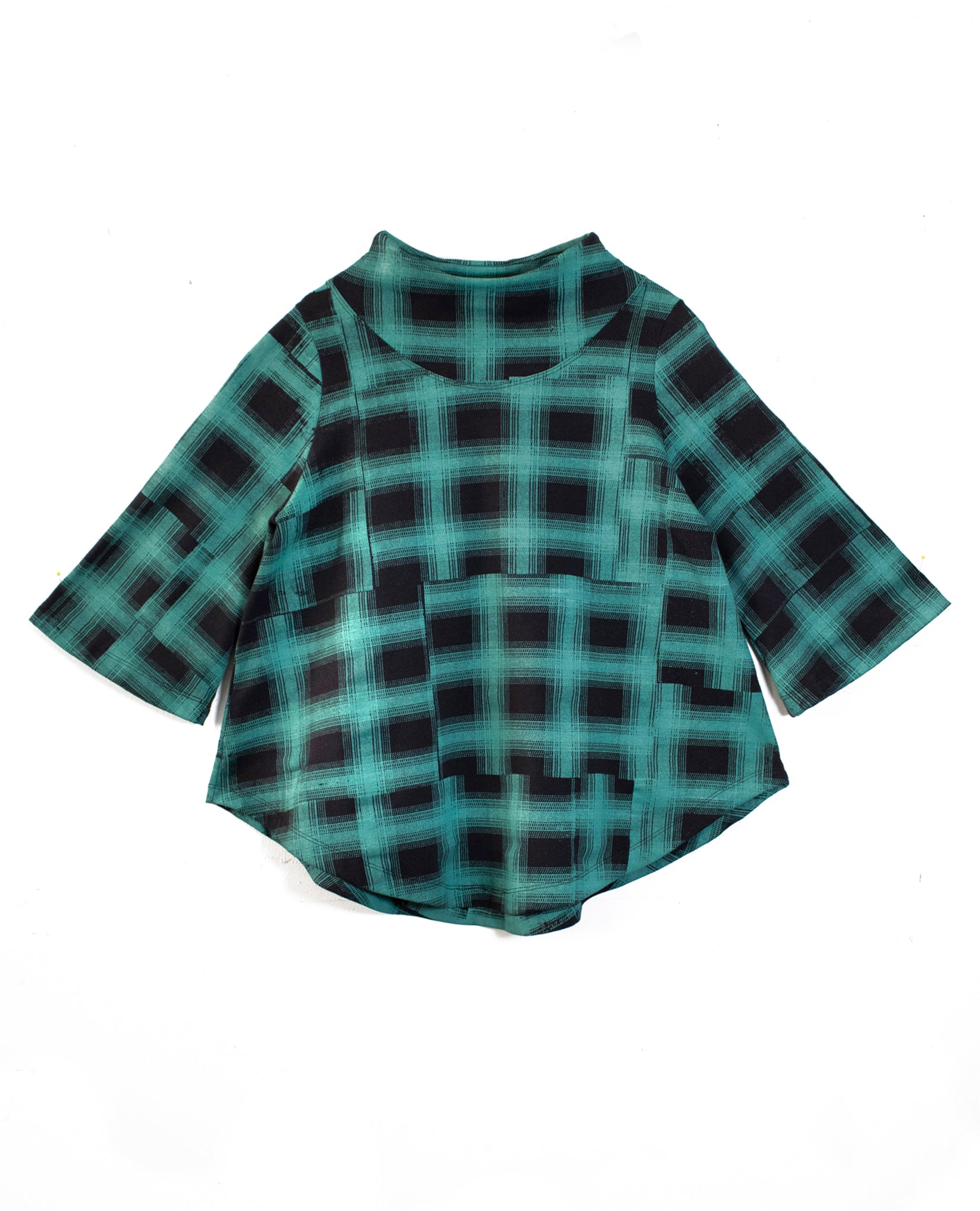 Green Plaid Swing Sweatshirt