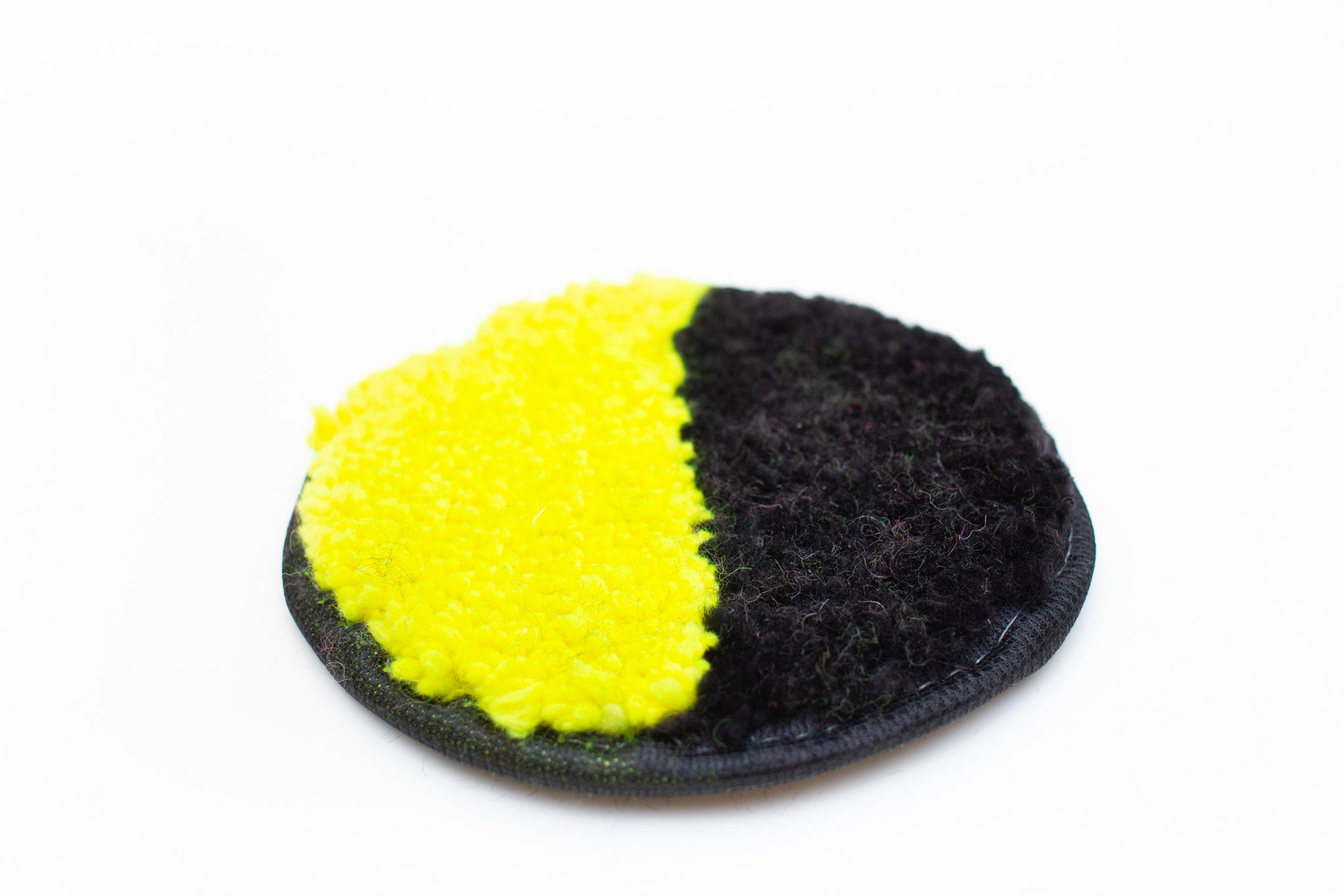 Mish Mash Coaster Half Black/Half Neon Yellow