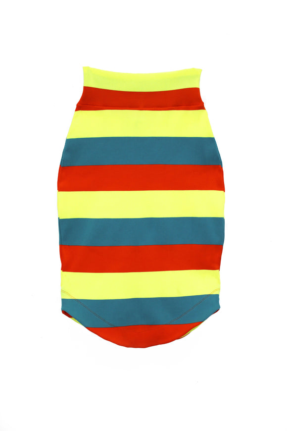 Stretch Knit Fluorescent Pencil Skirt