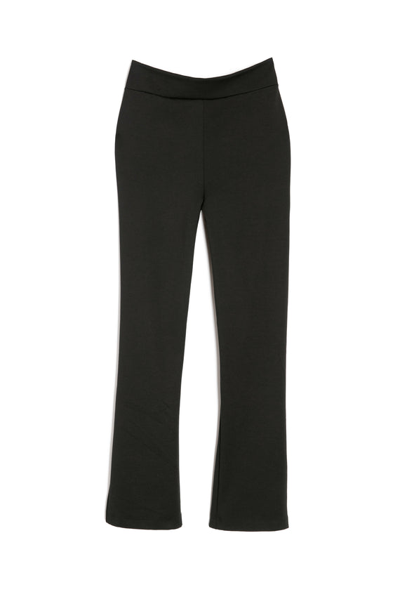 Cropped High-Waisted Ponte Pants