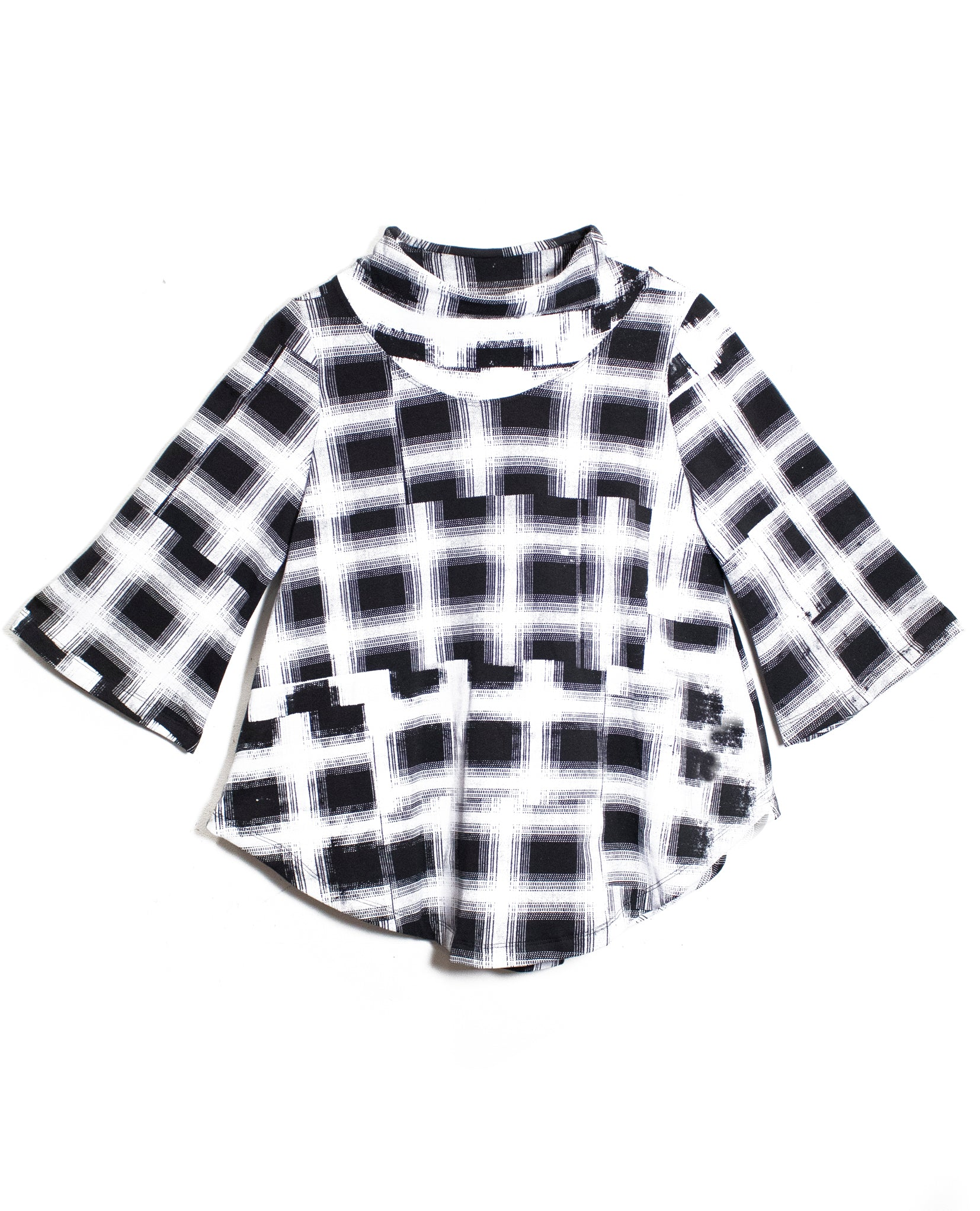Plaid Swing Sweatshirt