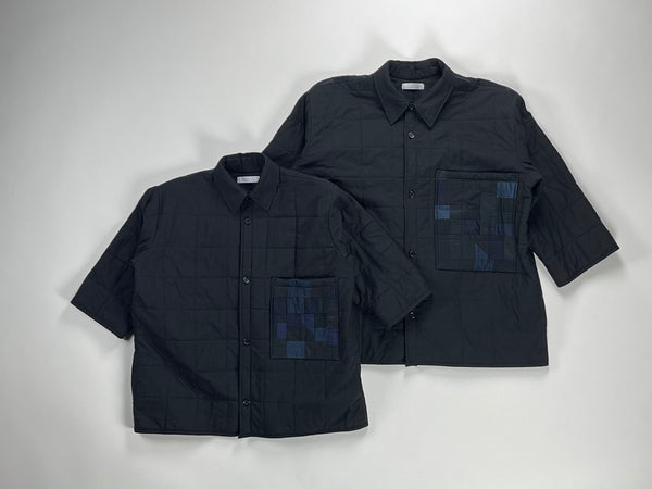 midnight quilted box shirt