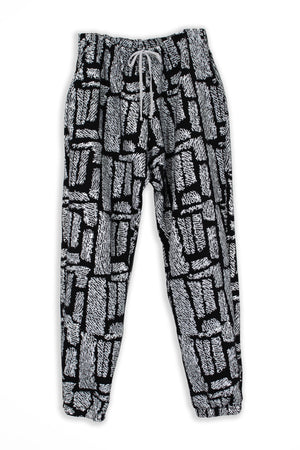 Fuzzy Print Sweatpants