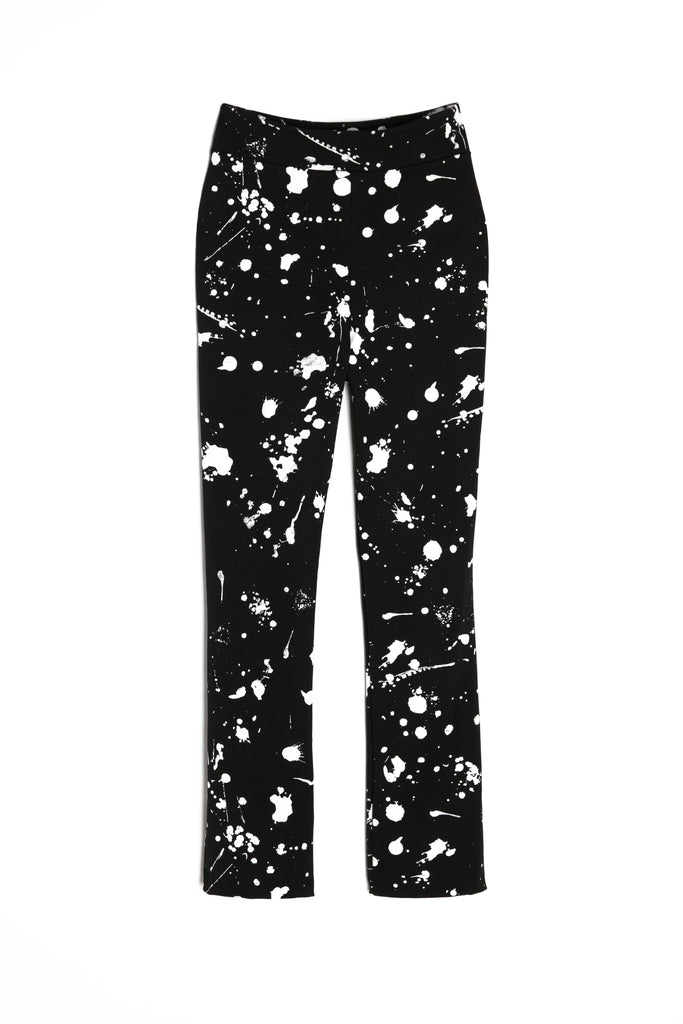 Skinny High-Waisted Splatter Pants