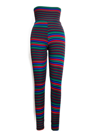 Striped Ribbed Legging