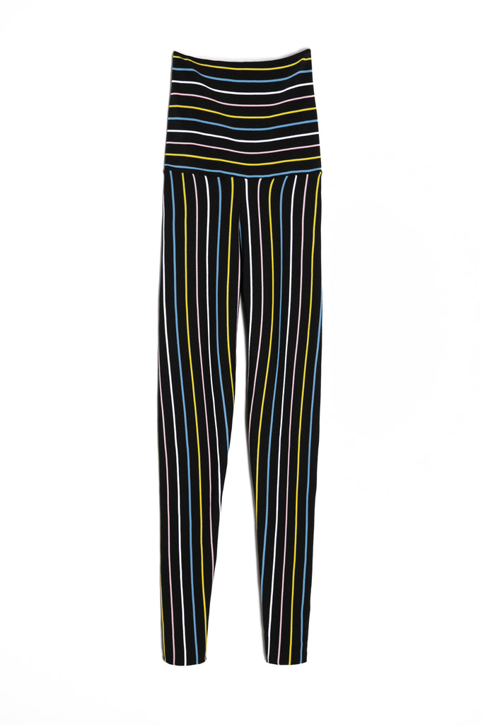Pinstriped High-waisted Leggings