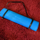 Black Leather Yoga Mat Strap