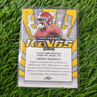 Henry Ruggs III 2020 Leaf Draft Touchdown Kings Yellow Rookie Card RC #79