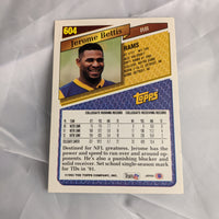 Jerome Bettis Topps #604 1993 Football Rookie Card