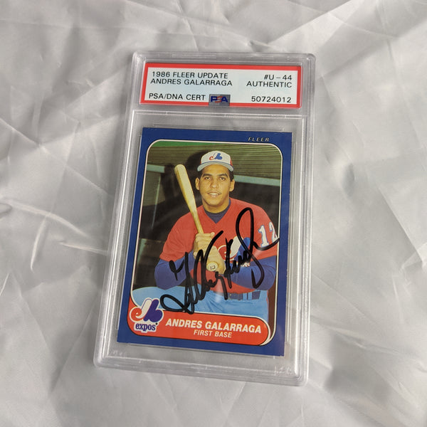 Andres Galarraga 1986 Fleer Update #U-44 PSA Authentic Autograph Card!