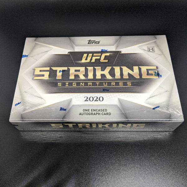 2020 Topps UFC Striking Signatures Box. One Encased Autographed Card!