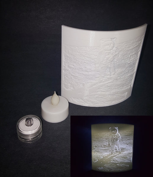 Moon Landing 50 Year Anniversary Magic Lithophane