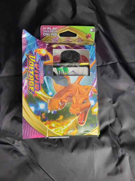 Pokemon TCG: Sword & Shield-Vivid Voltage Charizard Theme Deck. READ: OPENED NO CRACKED ICE.