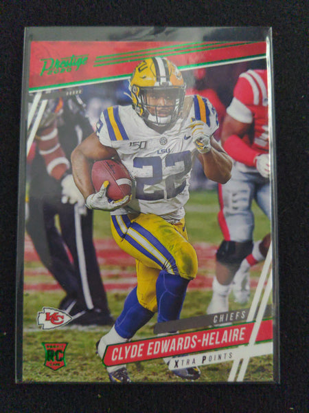 2020 Prestige Xtra Points Green Clyde Edwards-Helaire Rookie RC