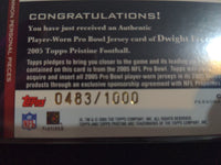 2005 Topps Personal Pieces Common #PPC-DF Dwight Freeney 483/1000 Jersey