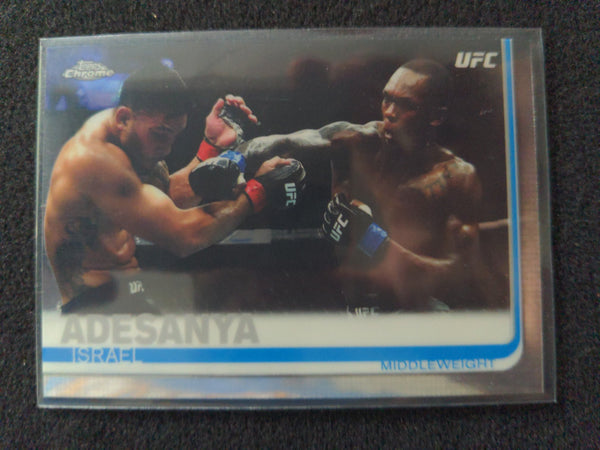 2019 Topps Chrome UFC Base #57 Israel Adesanya Rookie RC