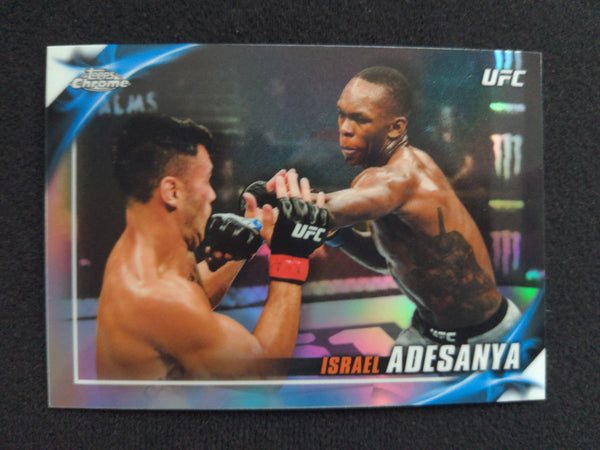 Israel Adesanya 2019 Topps Chrome UFC Knockout Chrome Refractor Rookie #UFCK-IA