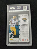 2017 Panini Leonard Fournette KNIGHT SCHOOL GREEN #LF RC PSA 10 GEM MINT ROOKIE