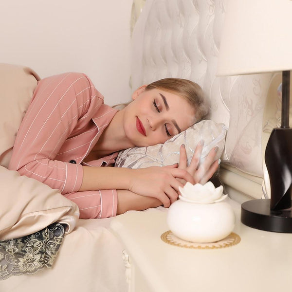 mini humidificateur fleur lotus zen