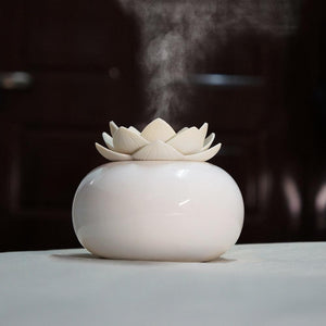 mini humidificateur fleur lotus porcelaine