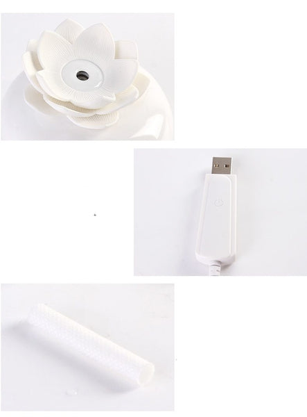 mini humidificateur fleur lotus usb