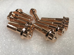Rose Gold M7 12 Point Wheel Assembly Bolts