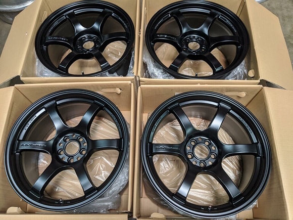 Rays Gram Lights 57DR 18x9.5 +38 5x100 Semi Gloss Black