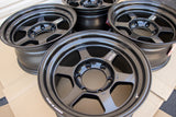 Volk TE37X Progressive 16x8 +0, 6x139.7 Diamond Black