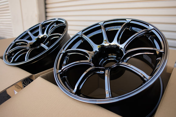 Advan RZ II 18x10.5 +15 5x114.3 Black Chrome
