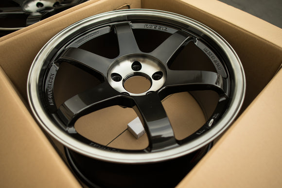 Volk TE37SL 18x10 +40 5x114.3 Pressed Double Black