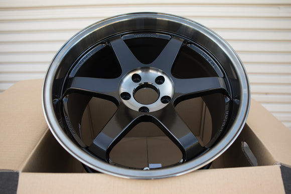 Volk TE37SL 19x9.5 +21, 19x10.5 +22 5x120 Pressed Double Black