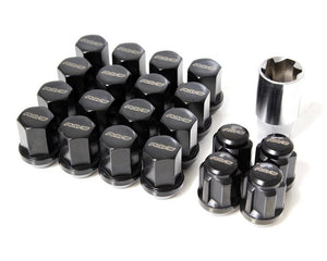 RAYS 19 Hex Lug Nut and Lock Set - Black - 14x1.50