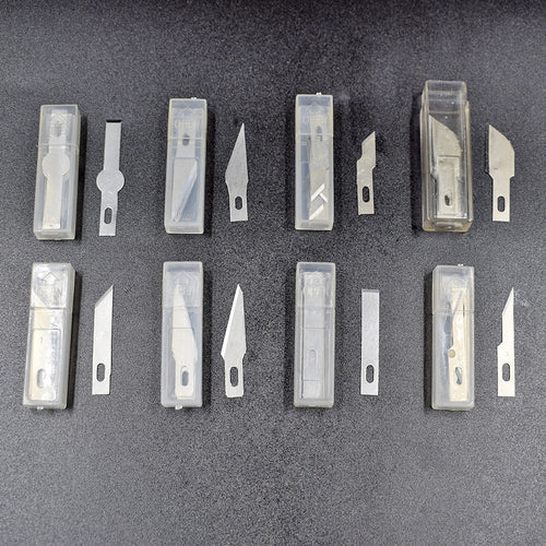 80PCS 8 Different Stainless Steel Blades Art Hobby Knife Wood Carving Tools Crafts Sculpting Tool Engraving PCB Repair