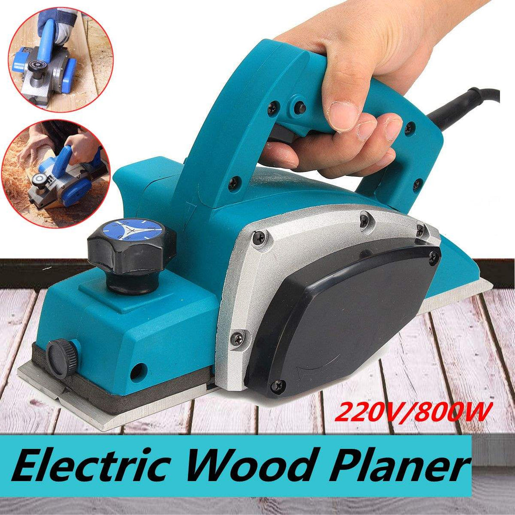 Powerful Electric Wood Planer Door Plane Hand Held Heavy Duty 220V 800W Woodworking Power Tool Surface for Wood Processing